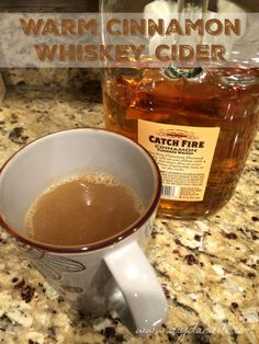 How to make your own hot cinnamon whiskey apple cider with Catch Fire Cinnamon Flavored Whiskey. This is so wonderful mixed drink on a cold winter day.