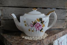 Farmhouse kitchen teapot vintage Gibsons by ApplesauceInn on Etsy