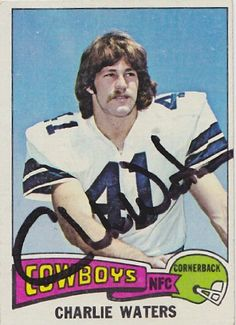 Charlie Waters signed autographed 1975 Topps Card Dallas Cowboys