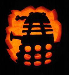 Dalek Pumpkin! I am so doing that!