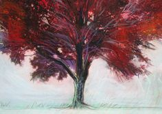 Winter greets autumn 4x4 Mounted Fine Art by dahliahousestudios, $22.99