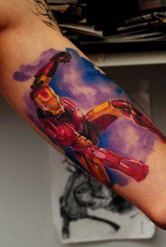 Realism Movies Tattoo by Denis Sivak& Great Tattoos, Awesome Tattoos, Cartoon Tattoos, World Tattoo, English Tattoo, Tattoos Gallery, Skin Art, Tattoo Photos, I Tattoo