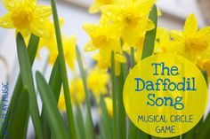 A beautiful uplifting Spring song, celebrating the daffodils and friendship. All Around the Daffodils is the perfect song for spring or for St David& Day. Daffodil Craft, Daffodil Day, Spring Songs For Kids, Kids Songs, Preschool Music Activities, Spring Activities, Music Lesson Plans, Music Lessons, Circle Time Songs