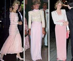 Royal Roaster — Princess Diana in her pale pink gowns Princess Diana Dresses, Princess Diana Wedding, Princess Diana Fashion, Princess Diana Family, Royal Princess, Princess Of Wales, Pink Gowns, Pink Dress, Princesa Real