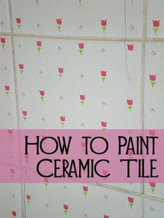 Many people have ceramic or porcelain tile in their homes that is in good repair however may not reflect their current style.  Instead of replacing the tile, you may wish to paint it to give it a new look.  Please be aware that painting tile in high traffic areas, kitchen countertops, or areas that regularly get wet is not recommended.