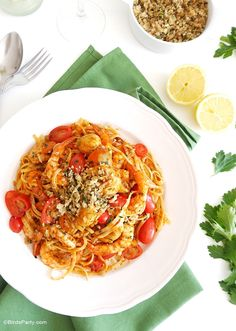 Tuscan Recipes for Easter, this one has marinara sauce and scallops and shrimp