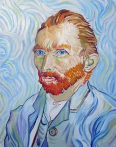Reproduction of a Self-Portrait by Van Gogh