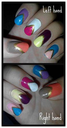 My nail art  :)  love it !!!