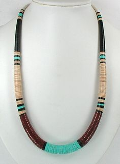 Santo Domingo Graduated Heishi Necklace