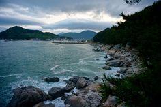 View from Gujora Beach, Geoje-do, South Korea.  http://www.dontliveforyourweekend.com/geoje-tongyeong/