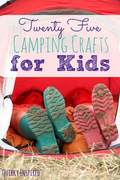 The kids and I love going camping, but it's hard to fight the boredom sometimes. That's where these 25 camping crafts for kids comes in. Our list of our favorite crafts to make while camping. Click the pin to check out all 25 crafts