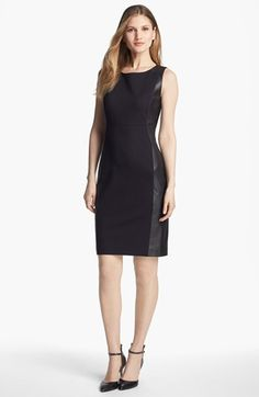 Ponte & Leather Dress #NSale