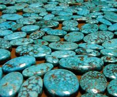 """""""The name Turquoise is derived from the French """"Pierre Turquois"""" meaning """"Turkish Stone"""". This is because Western Europeans mistakenly thought the gem came from Turkey. In actual fact it came from the Sinai Peninsula or Alimersai Mountain in Persia (now Iran), which has been mining Turquoise since 5,000 BC. In Persian, Turquoise is known as """"Ferozah"""", meaning victorious and it is the national gemstone of Iran to this day."""""""