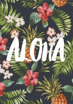 Aloha / / Typografie Grafik Motivations-Print von TheNativeState