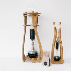 "These are our Coffeega's products at the Moment. Basically, we're manufacturing these ""Cold Drip Coffee Maker"" developed our own design and own system. This system means that this is based on cold ..."