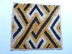 Kuba Cloth Vintage African Raffia Shoowa Kasai Velvet by anitavee