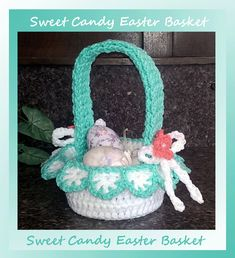 CrochetMemories.com - Sweet Candy Easter Basket