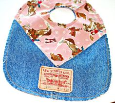 Baby bibs from old jeans Adult Bibs, Jean Crafts, Bib Pattern, Denim Ideas, Old Jeans, Baby Sewing, Baby Bibs, Baby Quilts, Baby Items