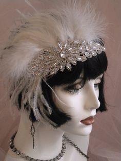 1920's wedding headpiece