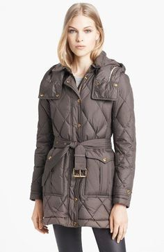 Trying to see which jacket gets more likes: Burberry Brit 'Greysby' Quilted Goose Down Jacket available at #Nordstrom