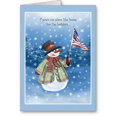 Patriotic Snowman Christmas Cards
