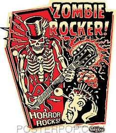 Vince Ray Zombie Rocker Sticker at PosterPop