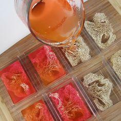 DIY loofah (melt & pour) soap