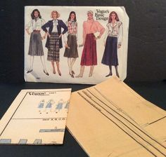 Vogue Basic Sewing Pattern 1061 Skirt 14 16 18 Uncut A Line Knee Calf Length FF | eBay