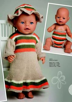 ideas baby born vaatteet doll clothes for 2019 Trendy Baby Boy Clothes, Baby Doll Clothes, Baby Dolls, Babies Clothes, Dress Clothes, Baby Girl Dress Patterns, Baby Patterns, Knitting Patterns, Baby Born Congratulations