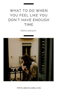 Do you ever feel like there's not enough time? Yeah, me too! Check out this post on not having enough time and dealing with anxiety and procrastination.