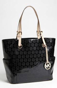I want this bag. Bad.  MICHAEL Michael Kors 'Signature' Tote available at #Nordstrom