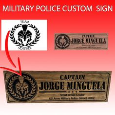 US Military Police School Project Military Signs, Military Police, Black And White Logos, Custom Wooden Signs, Us Marine Corps, Dark Walnut Stain, Custom Logos, School Projects, Small Groups