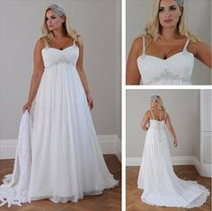 Casual Wedding Dresses Beach Style Plus Size Wedding Dresses 2015 New Sweeheart Neckline Spaghetti Straps Ruched Bodice Empire Waist A Line Chiffon Wedding Dress Simple Classic Wedding Dresses From Szaimi, $148.7| Dhgate.Com