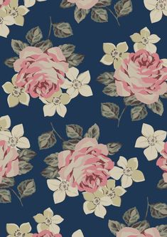 Richmond Rose | A new print with a familiar feel. Richmond Rose borrows from a favourite print from our archive but has been given a bold, graphic new look with lush, full roses surrounded by simple blossoms | Cath Kidston SS16