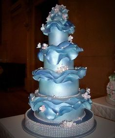 Blue Boss Wedding Cake pictures
