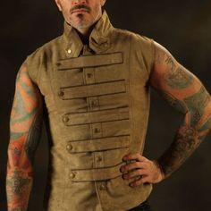 New Mens Steampunk Military Waistcoat from Leatherotics on Etsy