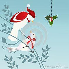 birds-mistletoe-27277437.jpg (400×400)