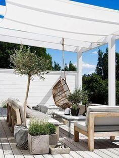 Gravity Home: Scandinavian Home of Pella Hedeby Outdoor room Porch Pergola Diy Pergola, Pergola Shade, Pergola Kits, Pergola Ideas, Cheap Pergola, Patio Kits, Porch Kits, Outdoor Pergola, Pella Hedeby