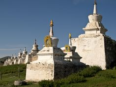 photo by Rolling Tales on Flickr. Erdene Zuu Monastery is probably the most ancient surviving Buddhist monastery in Mongolia (cca 1585). It is located near the town of Kharkhorin and adjacent to the ancient city of Karakorum. It is part of the World Heritage Site entitled Orkhon Valley Cultural Landscape.