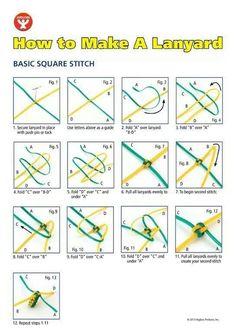 Craft strip lanyard instructions