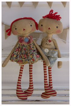 Raggedy Ann and Raggedy Andy-ish dolls
