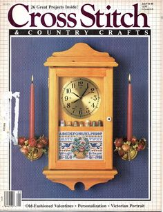 Cross Stitch and Country Crafts January February 1988 Magazine Blueberry Creek…