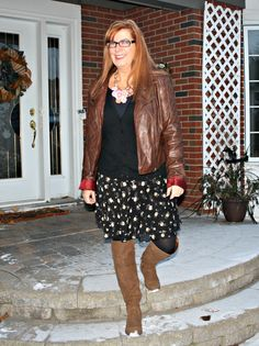 dark floral skirt rue 21 leather jacket shoe dazzle boots