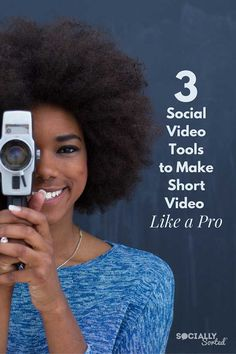 3 Social Video Tools To Make Short Video Like A Pro Socially Sorted. Social Media Video, Social Media Content, Social Media Marketing, Content Marketing, Digital Marketing, Content Tools, Affiliate Marketing, Online Marketing, Social Media Influencer