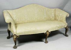 George II Walnut and Giltwood Sofa 2