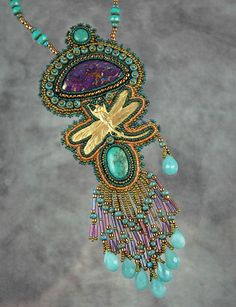 ~~Kingman Dragonfly Necklace | Bead artwork by Sue Horine~~
