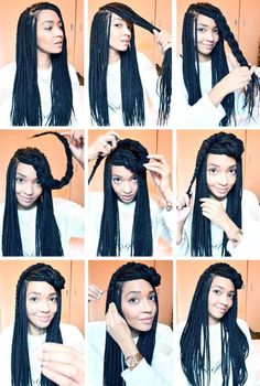 All styles of box braids to sublimate her hair afro On long box braids, everything is allowed! For fans of all kinds of buns, Afro braids in XXL bun bun work as well as the low glamorous bun Zoe Kravitz. My Hairstyle, Box Braids Hairstyles, Dreadlock Hairstyles, Hair Updo, Box Braids Updo, Hairstyle Ideas, Braids Ideas, Dutch Braids, Jumbo Braids