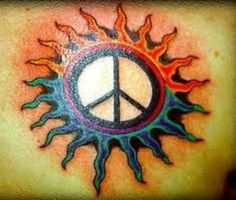Peace sign tattoos are making a comeback. Learn about peace sign tattoo designs, peace sign tattoo meanings, and peace sign tattoo ideas. View our tattoo pictures and more. Peace Sign Tattoos, Love Tattoos, Picture Tattoos, Body Art Tattoos, I Tattoo, Tattoos For Women, Tatoos, Sun Tattoo Meaning, Tattoos With Meaning