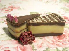 Chocolate Cake Soap, All Natural, Creamy Lathering Soap, Cake Soap, Bath Gift, Fancy Soap, birthday gift, Vegan palm free soap סבון שוקולד