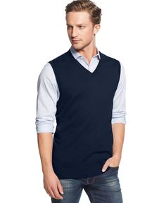 Club Room Cotton Vest, Only at Macy's